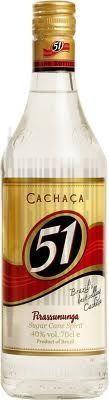Cachaca 51 Pirassununga 1L 40% base pour Caipirinha
