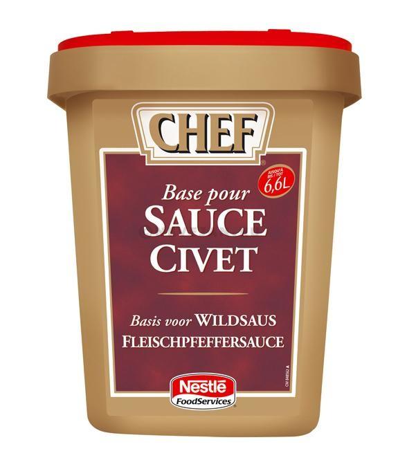 Chef base pour sauce civet déshydratée 1020gr Nestlé Professional