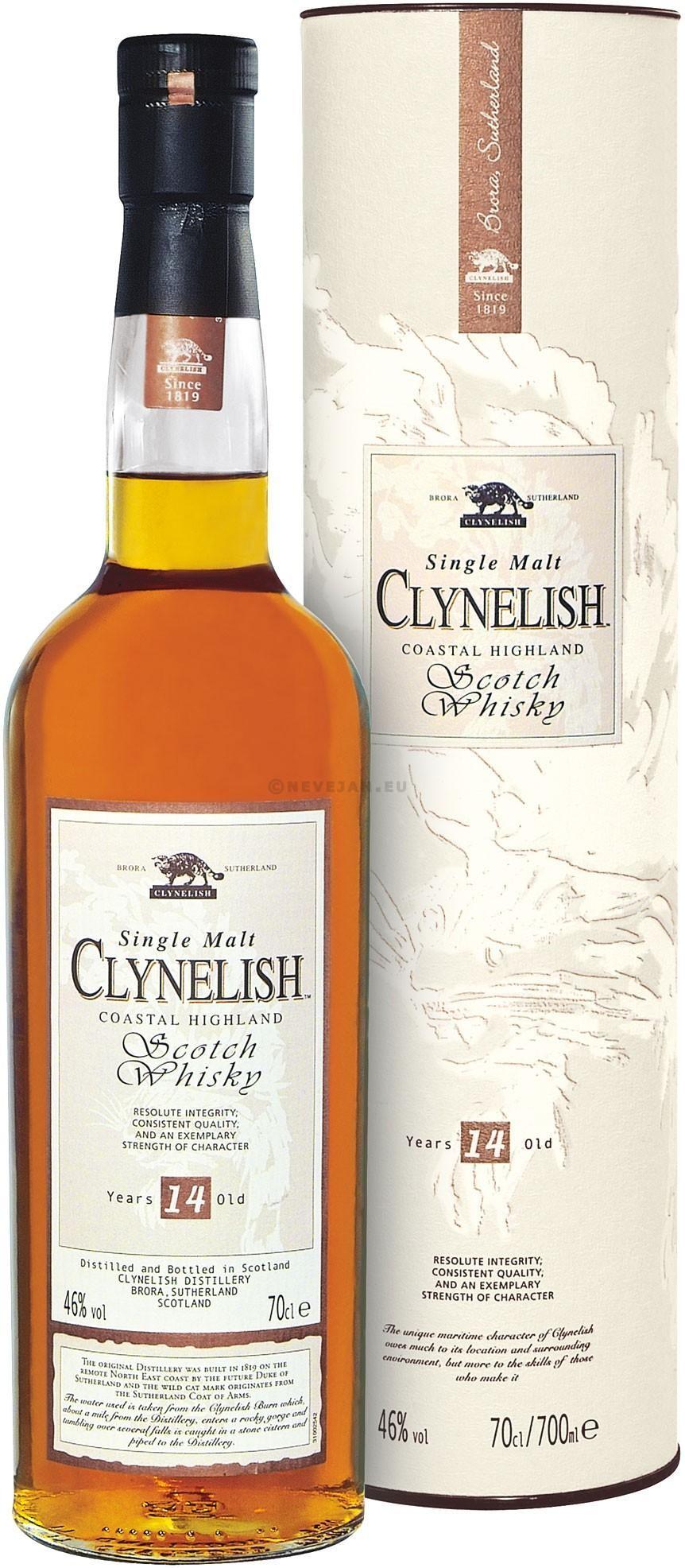 Clynelish 14 ans d'age 70cl 46% Highland Single Malt Whisky Ecosse