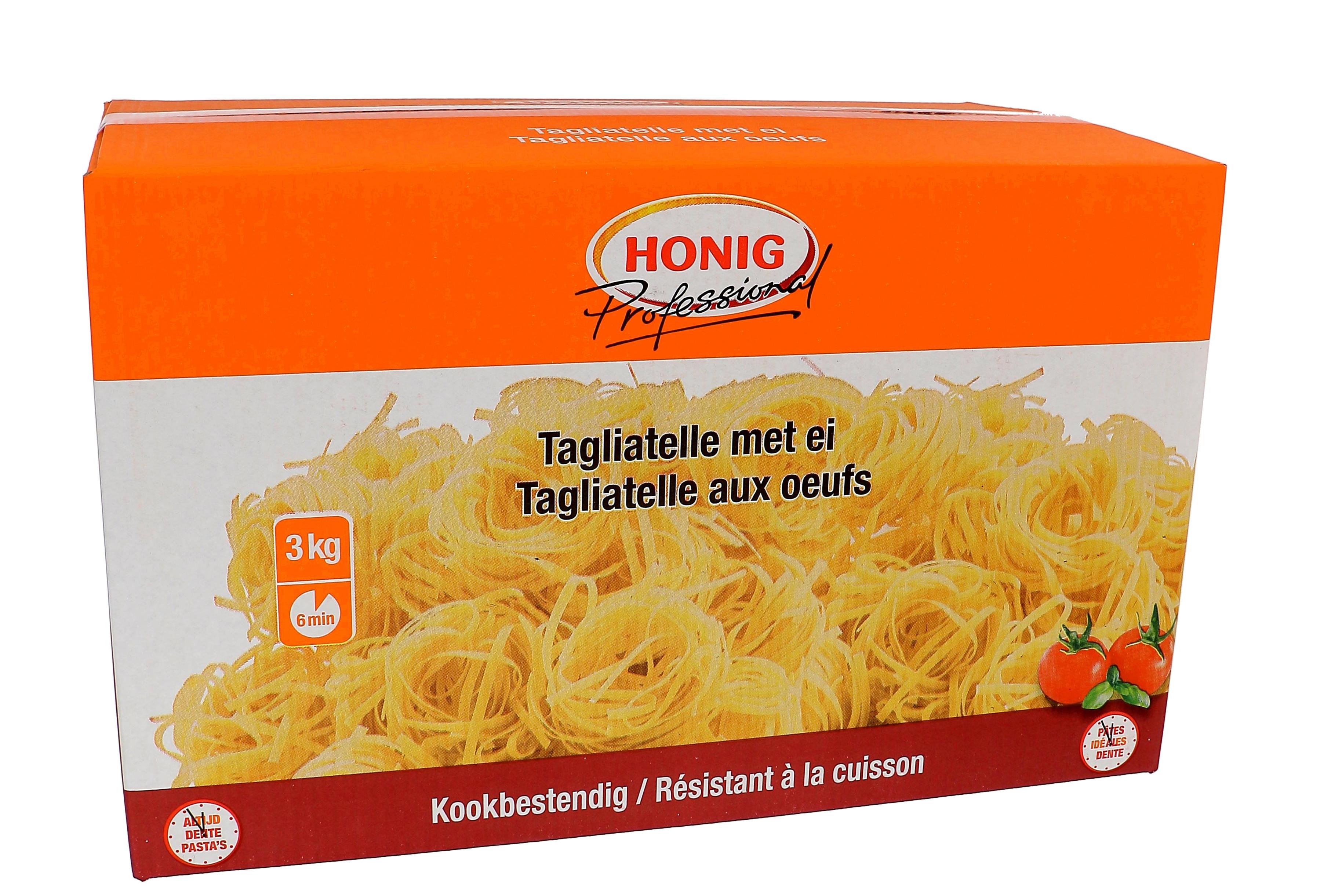 Honig pates tagliatelle naturel aux oeufs 3kg Professional
