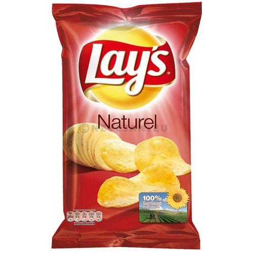 Lays Crispy Chips naturel sel 15x75gr