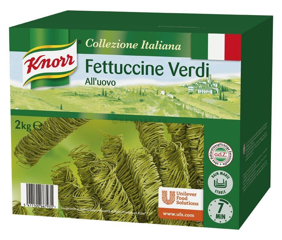 Knorr pates Fettuccini Verde 2kg Collezione Italiana