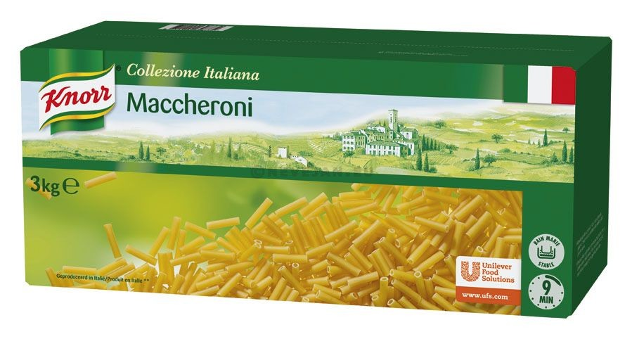Knorr pates Maccheroni macaroni 3kg Collezione Italiana