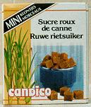 Sucre roux de canne en mini morceaux 500gr Candico