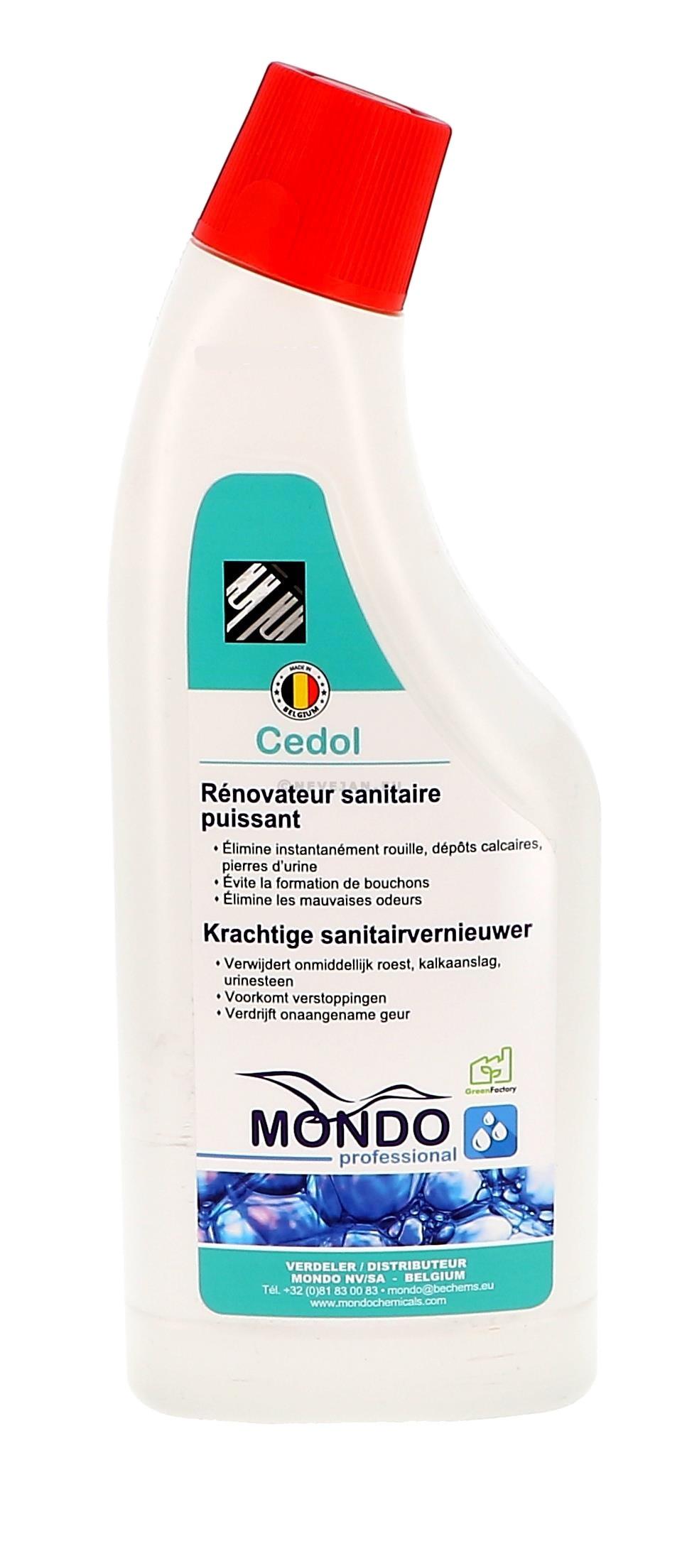 Mondo Cedol 750ml nettoyant détartrant sanitaire puissante