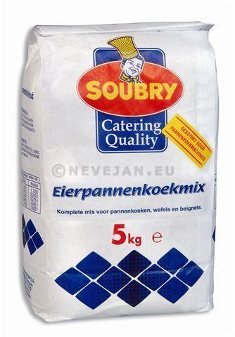 Préparation pour crepes au oeufs 5kg Soubry