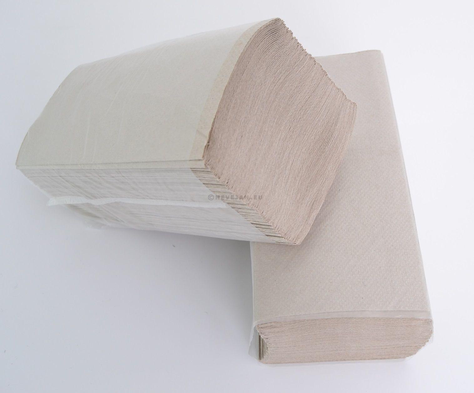 Essuie-Mains papier plier Naturel 1-couches Zig Zag 25x23cm 4600pc