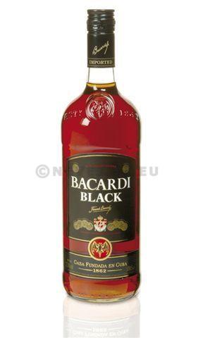 Rhum bacardi premium black 1l 37.5%