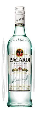 Rhum bacardi superior 70cl 37.5%