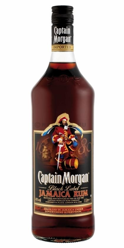 Rhum Captain Morgan Black Label 1L 40% Jamaica