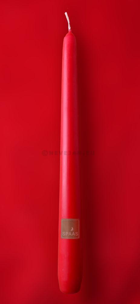 Bougies rouge claire Spaas 25cm 100pc Festilux