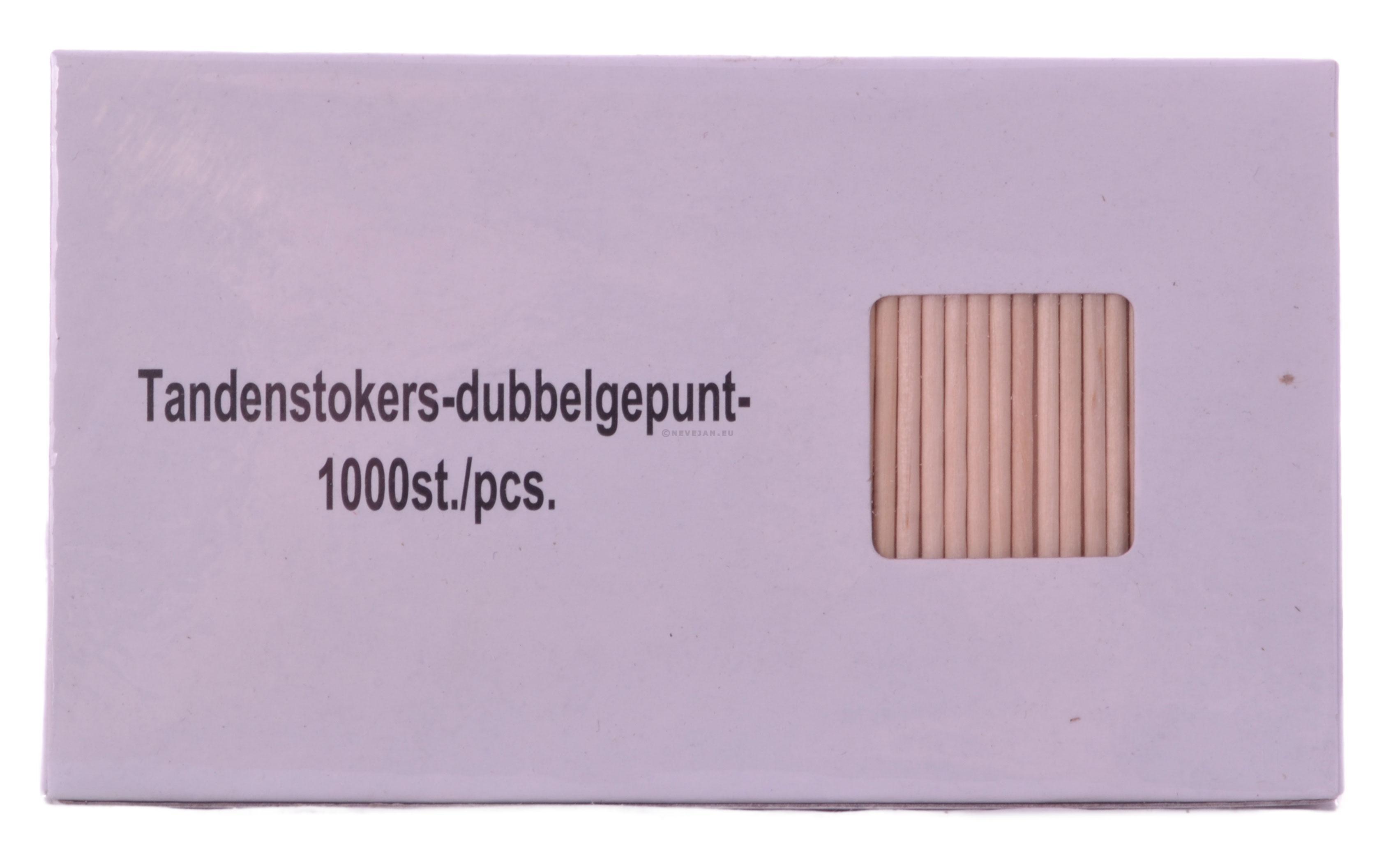 Cure-Dents bois non-emballés 65mm 1000pc
