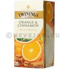 Thé Twinings Orange & Cinnamon canelle 25pc