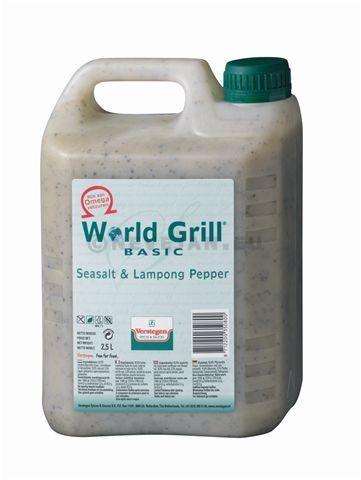 Verstegen World Grill Marinade Sel de Mer & Poivre Lampong 2.5L