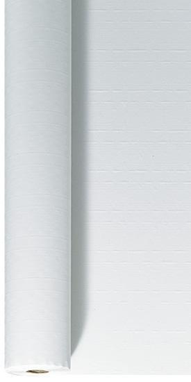Nappes Damassees Papier Blanches en rouleau blanc 1.2m 100m