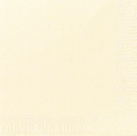 Serviettes en papier champagne 3-couches 24x24cm 250pc Duni