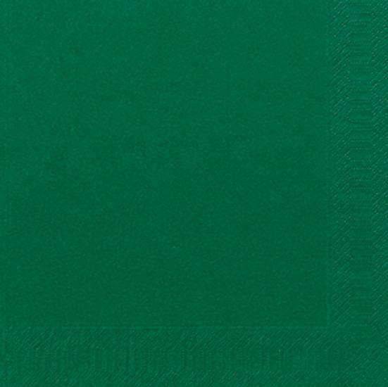 Servet duni 3laag donkergroen 40x40cm 125st