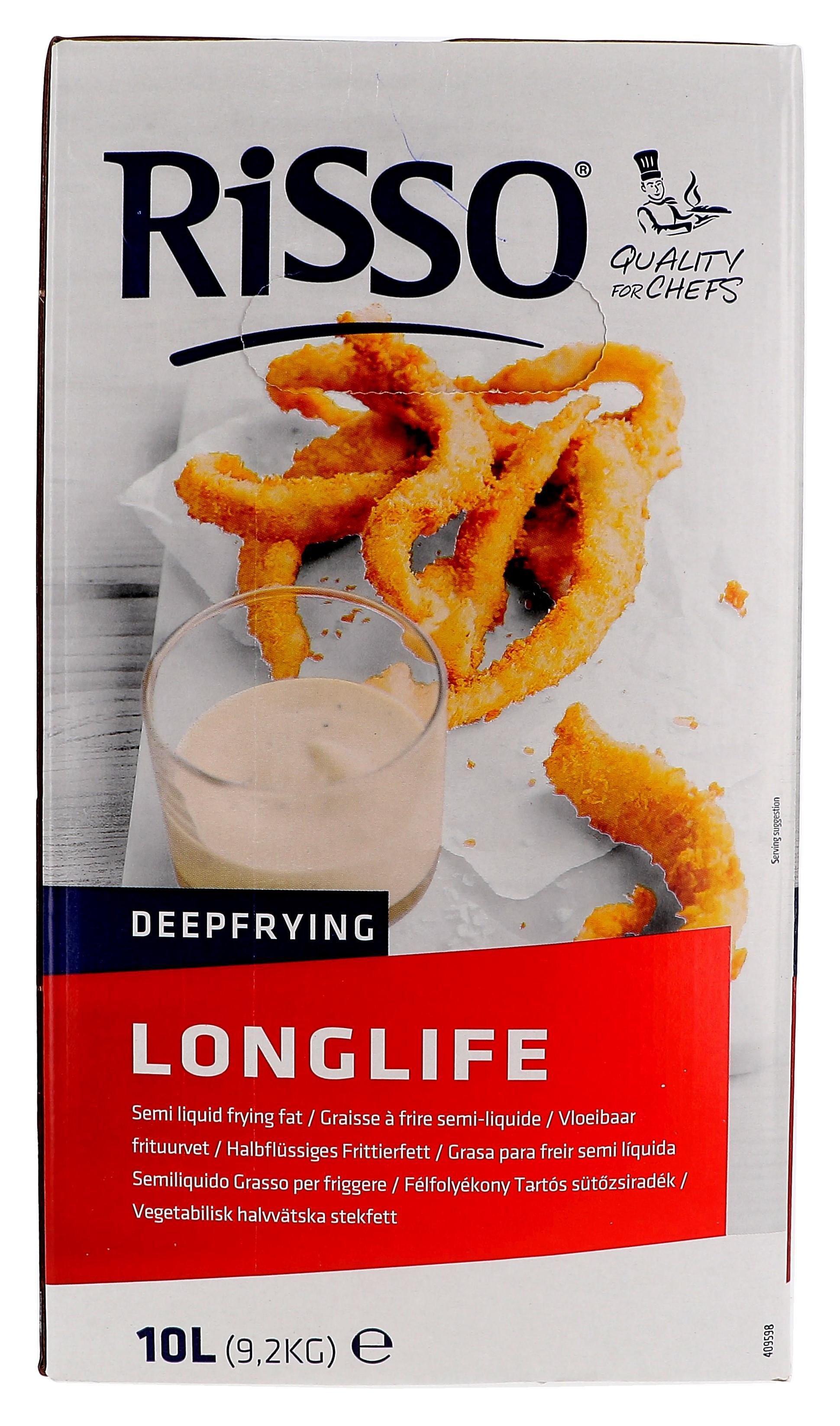 Rissso Longlife Graisse demi-liquide 10L Bag-in-Box (Frituurvet)