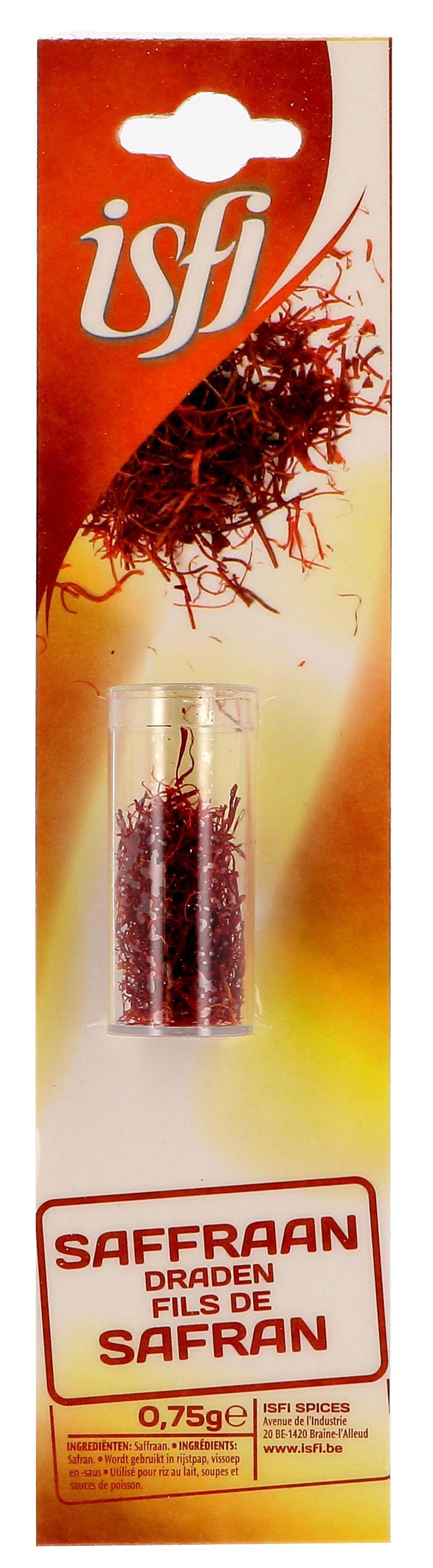 Safran en filaments 2 x 0.75gr Isfi (Isfi & Verstegen)