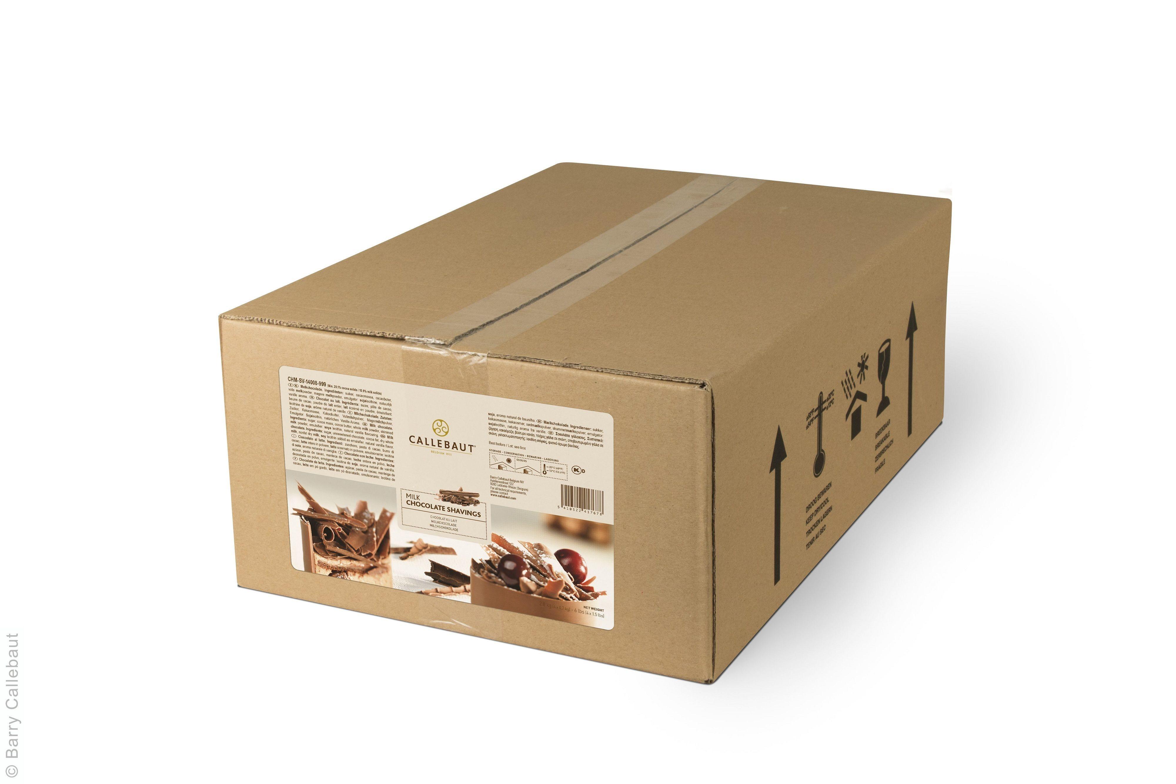 Copeaux de chocolat au lait 2.5kg Callebaut