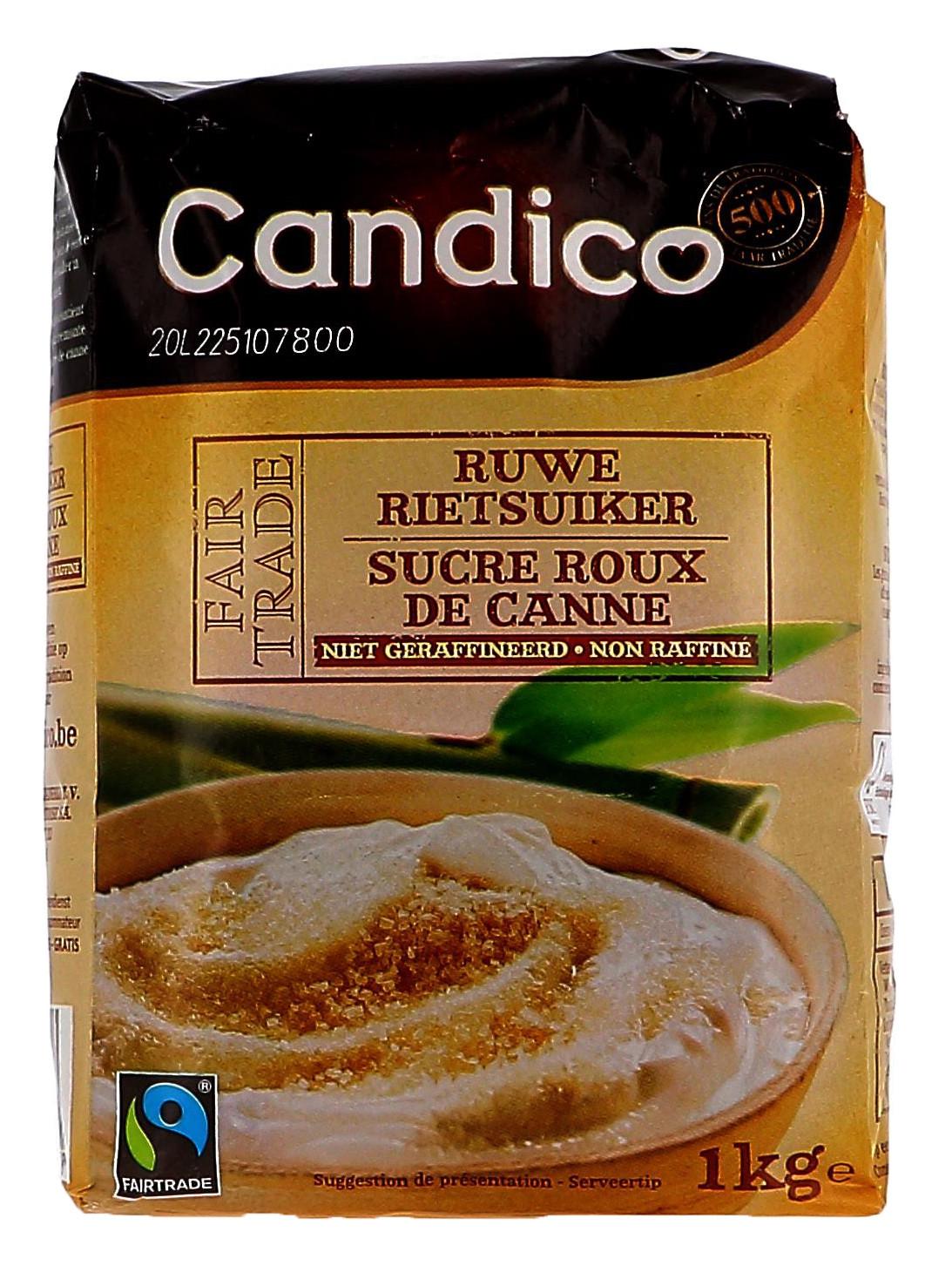 Sucre Roux de canne en poudre non raffiné 1kg Candico