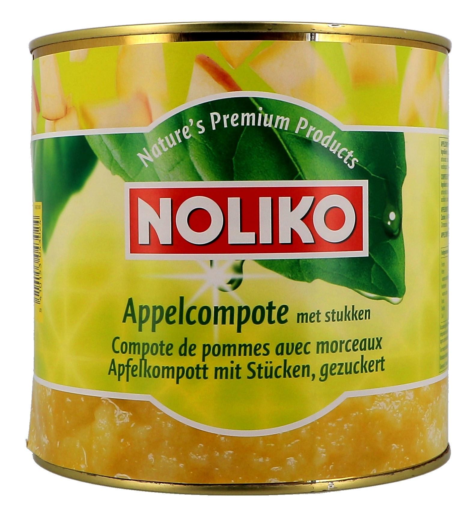 Noliko Compote de pommes avec morceaux 2650gr en boite 3L
