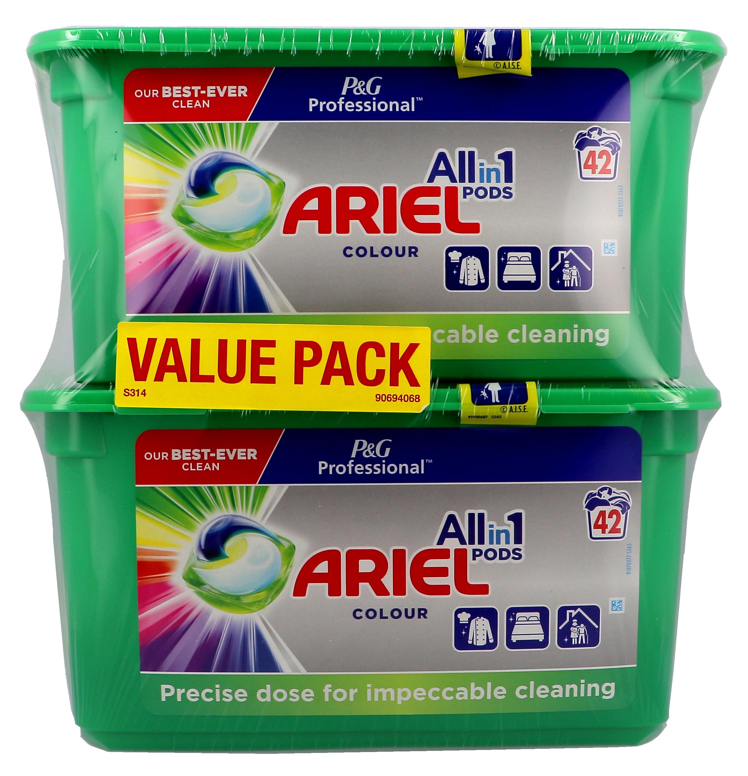 Ariel Color doses de lessive liquide 3in1 2x42pc