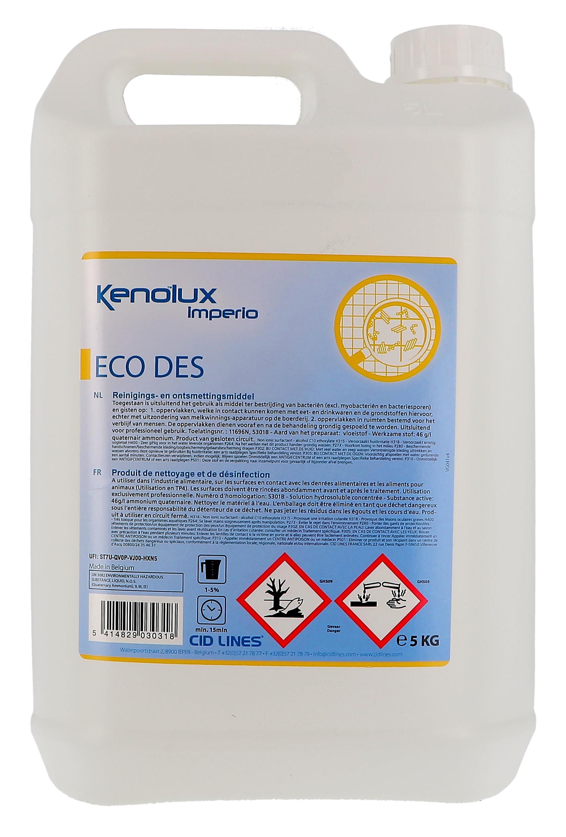 Kenolux Eco Des Désinectant 5L Cid Lines