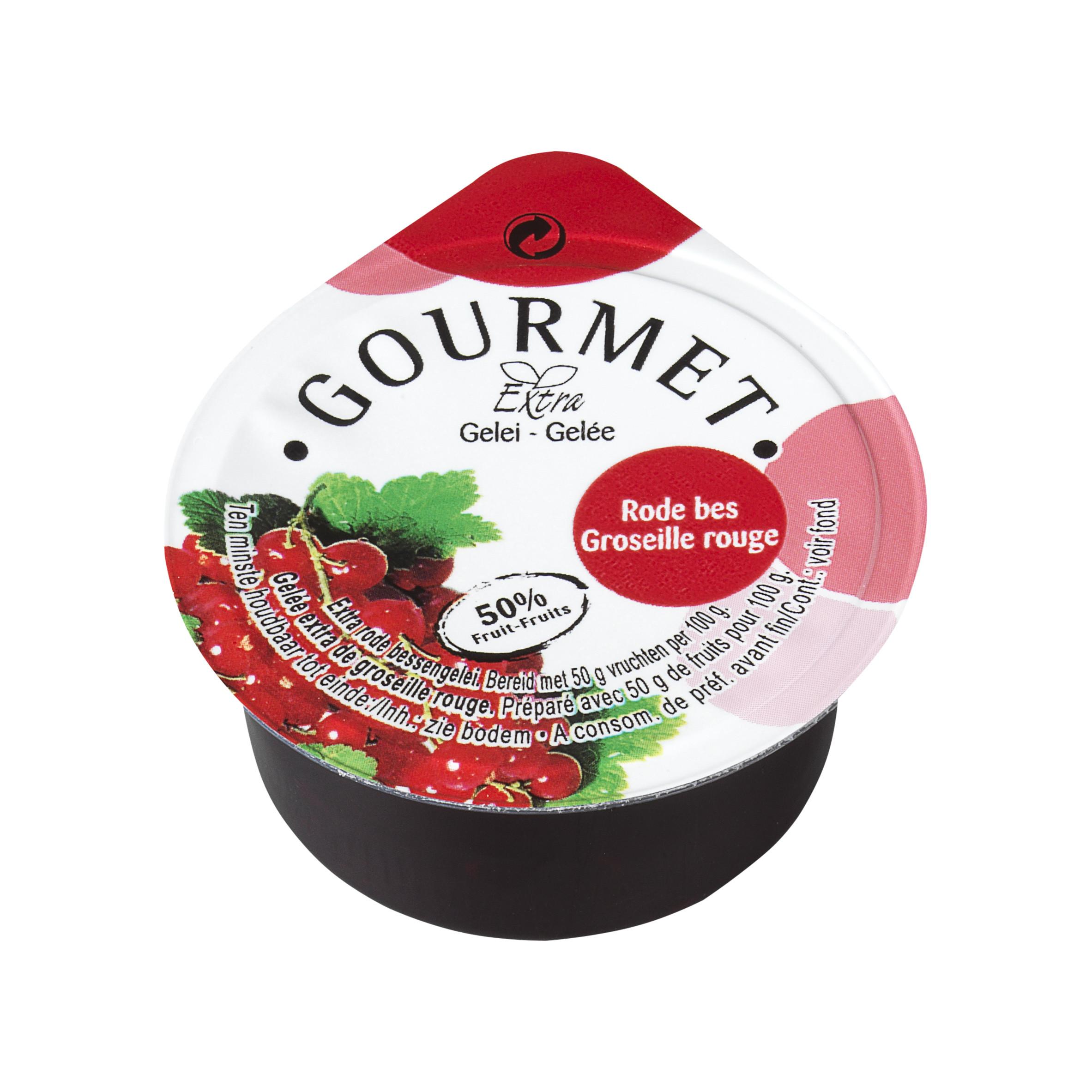 Portions confiture 50% groseilles rouges en coupelles 100x25gr Gourmet