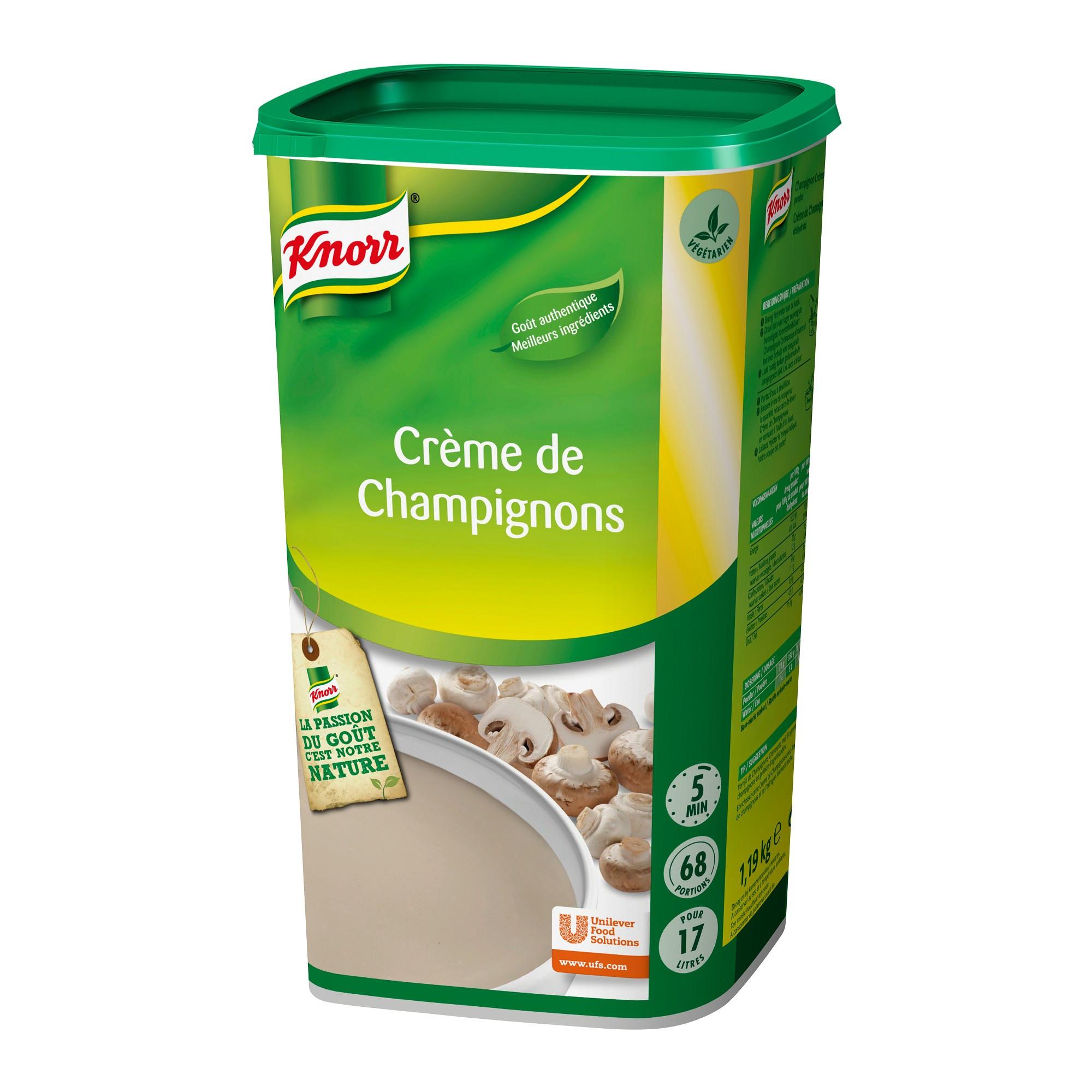 Knorr potage de champignons 1.365kg Soupe TL Jours