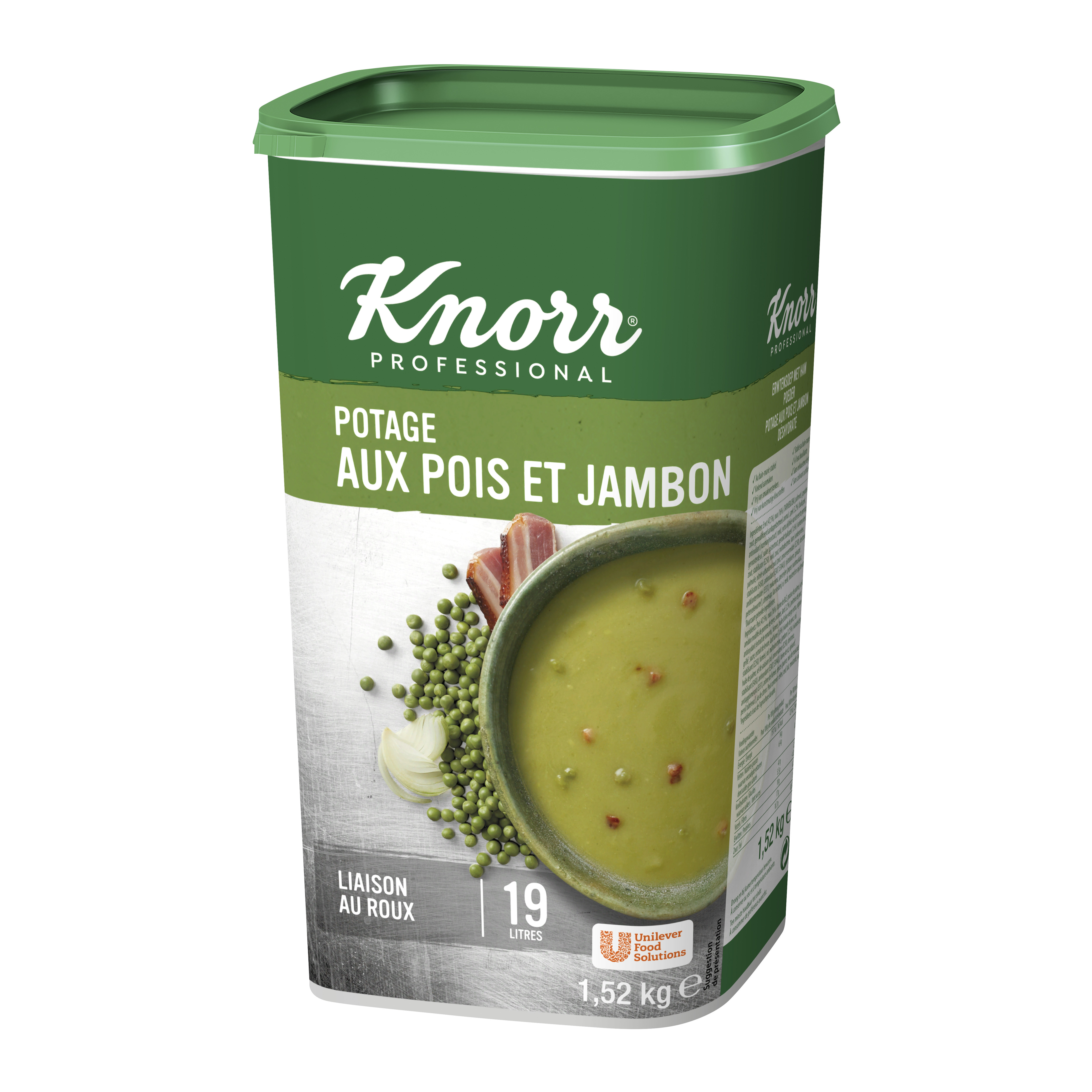 Knorr potage pois au jambon 1.52kg Professional