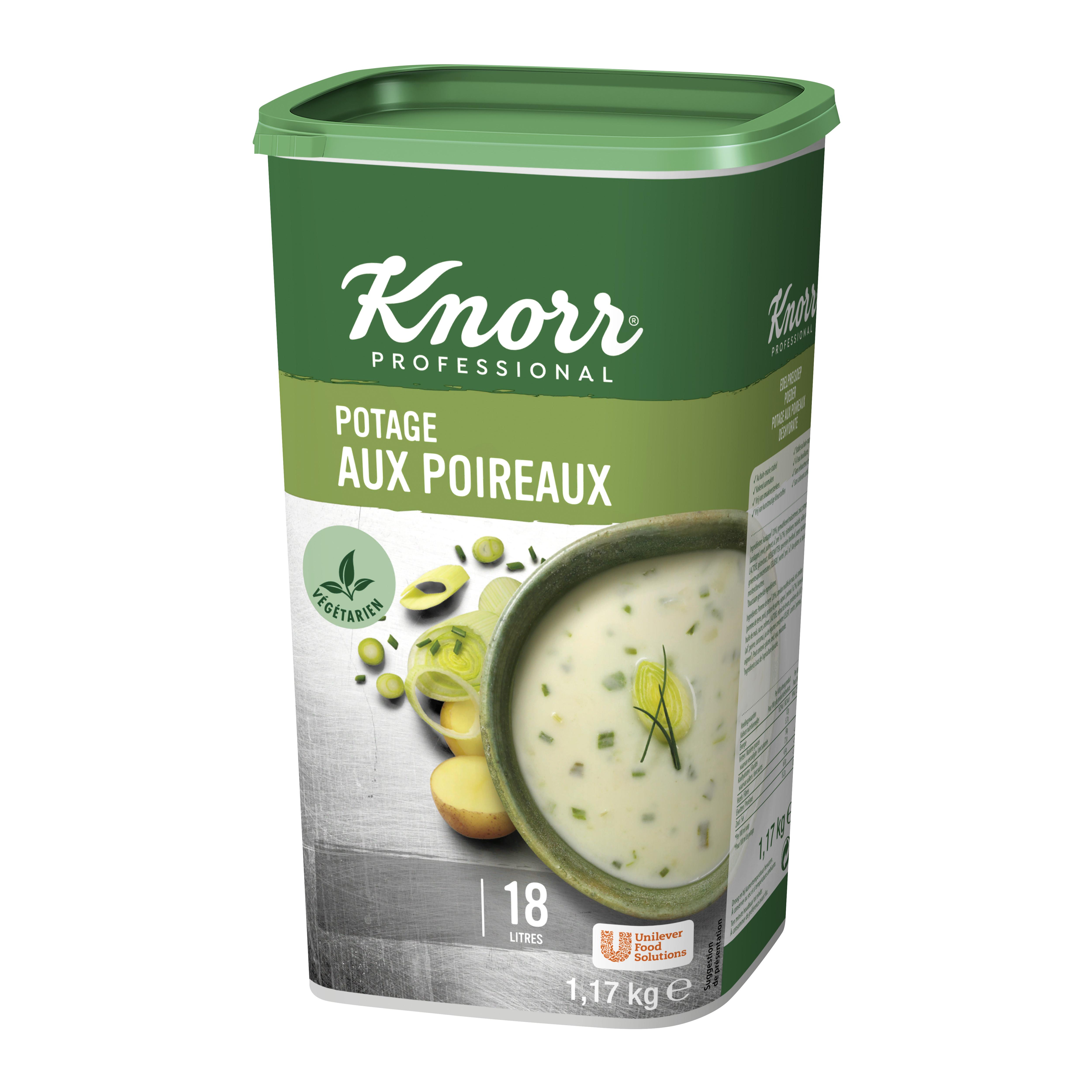 Knorr potage aux poireaux 1.17kg Professional