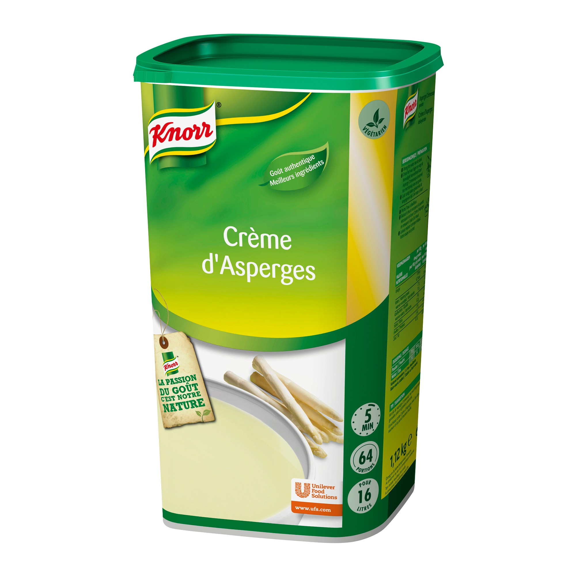 Knorr potage creme d'asperges 1.37kg Soupe de tous les Jours