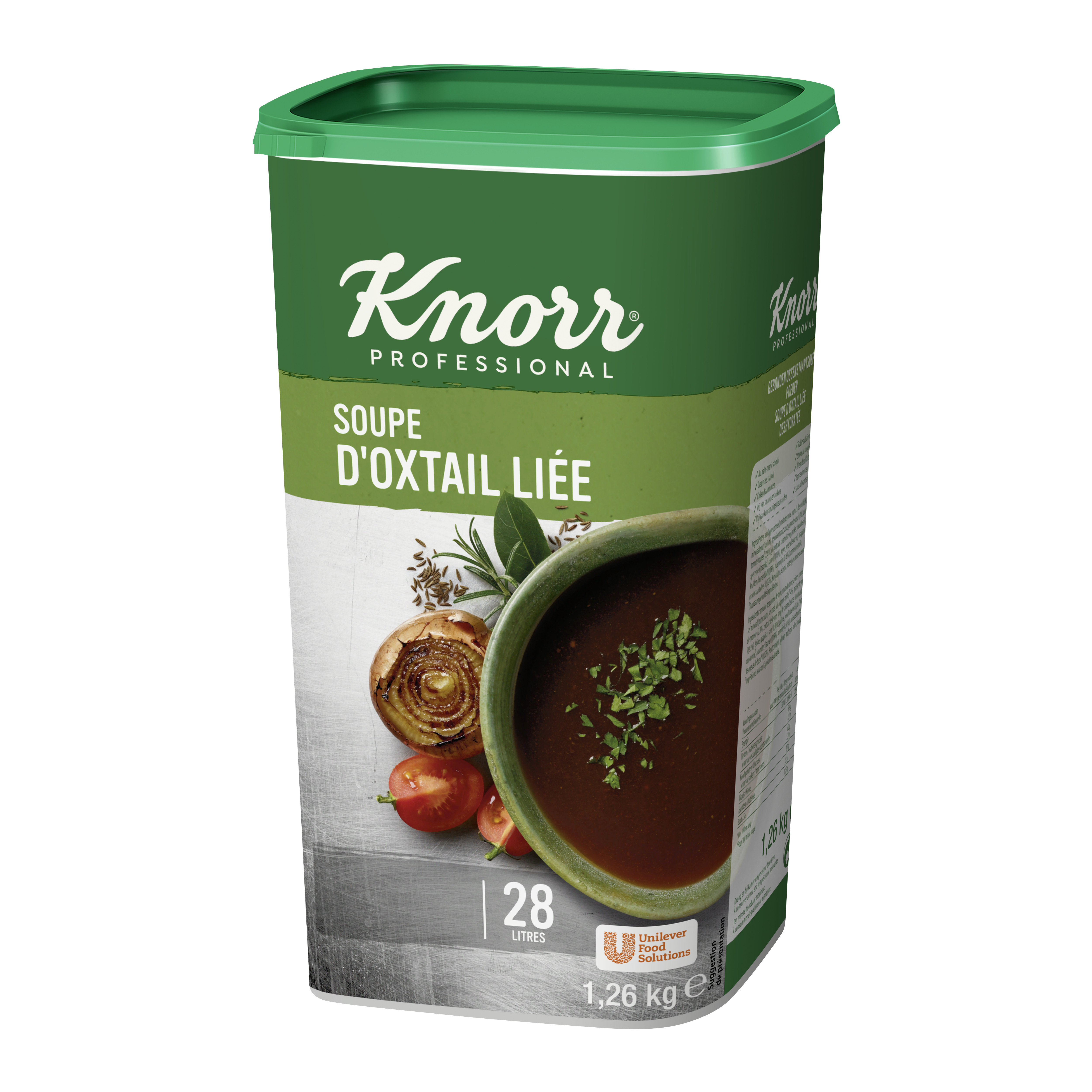 Knorr soupe d' oxtail lié1.26kg Professional