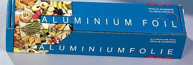 Rouleau aluminium 30cm 250m (14mµ) 1pc cutterbox