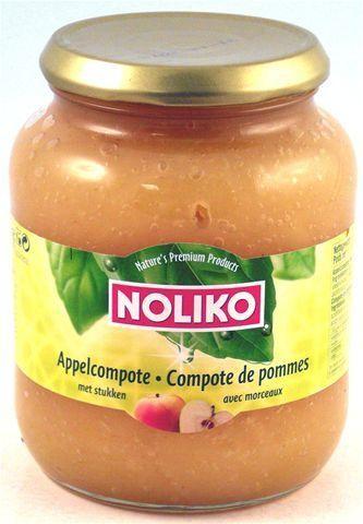 Noliko Compote de Pommes avec morceaux 720gr bocal