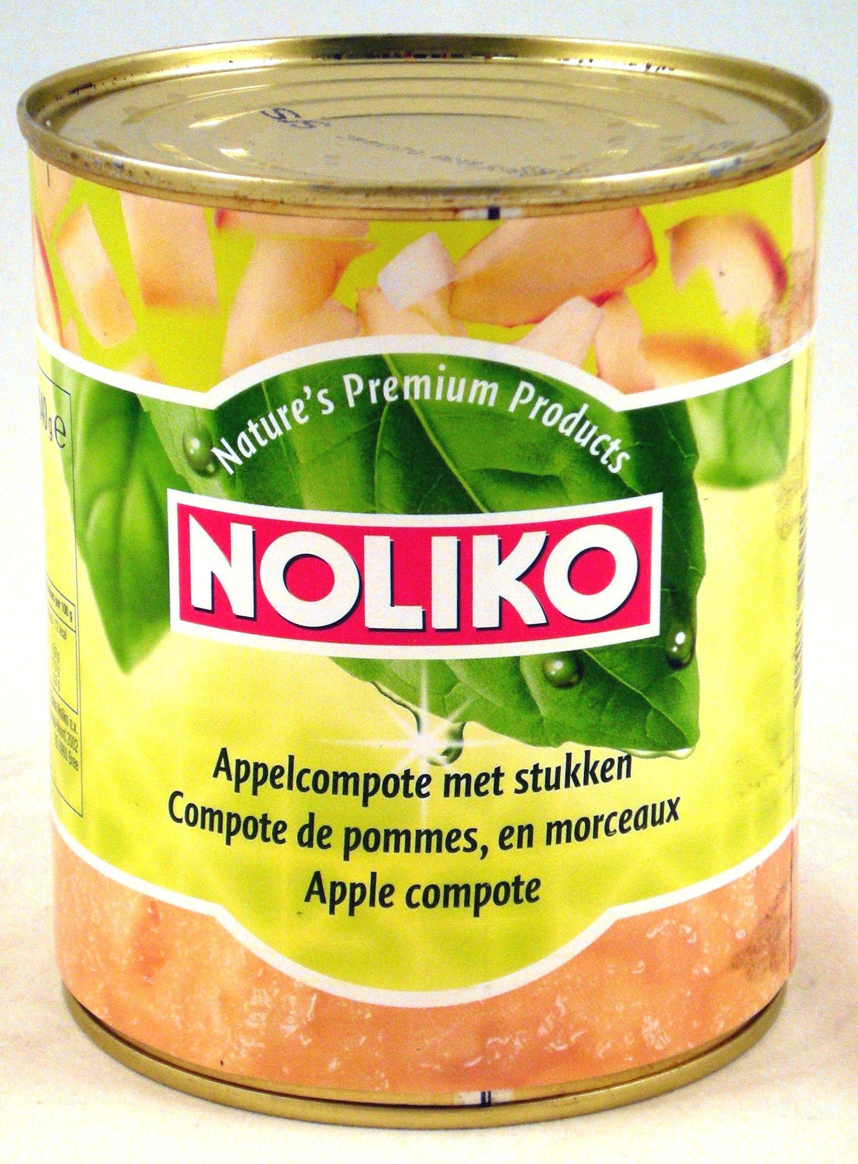 Noliko Compote de pommes avec morceaux 850gr en boite 1L