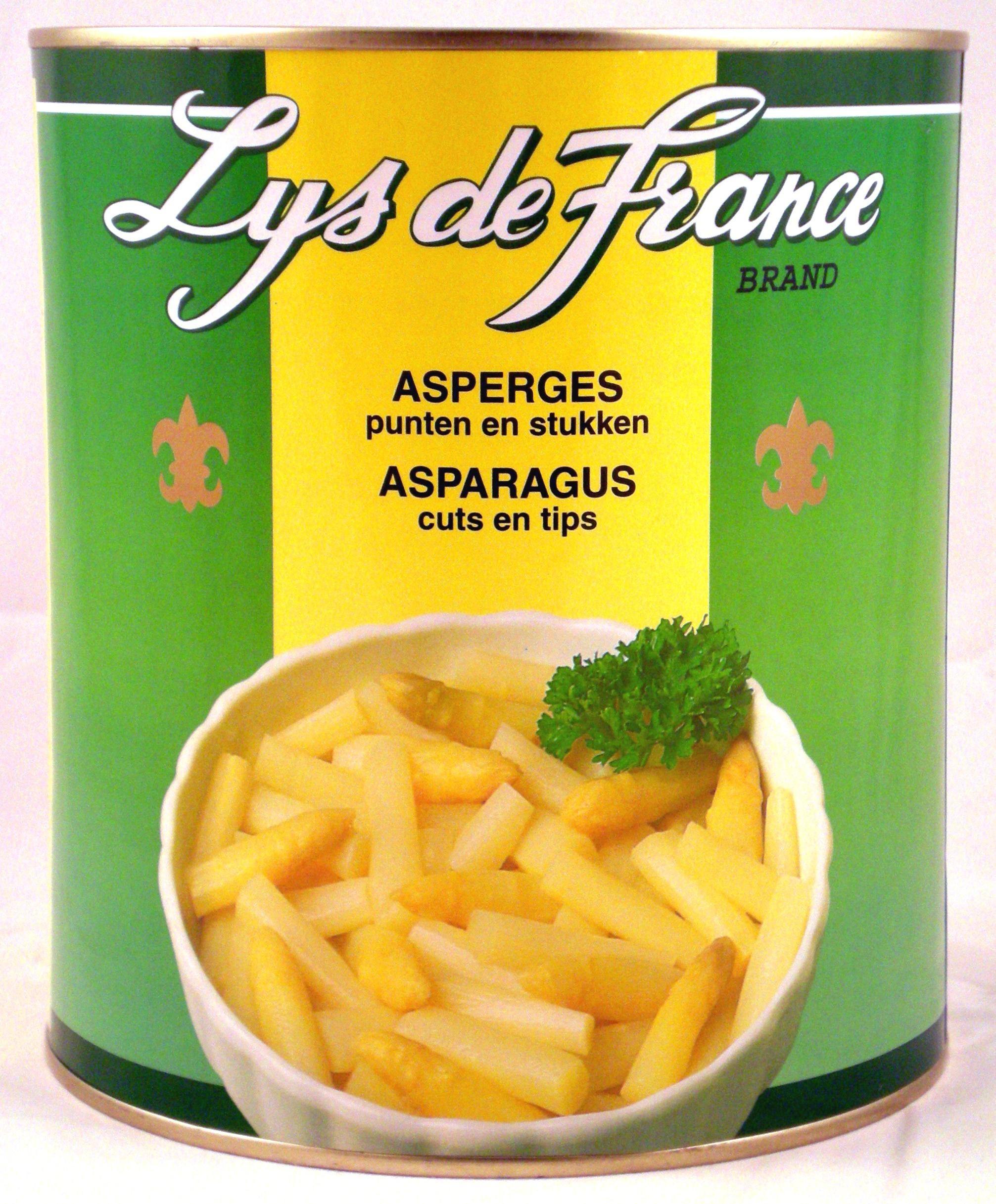 Asperges Blanches Pointes et Morceaux 3L Lys de France