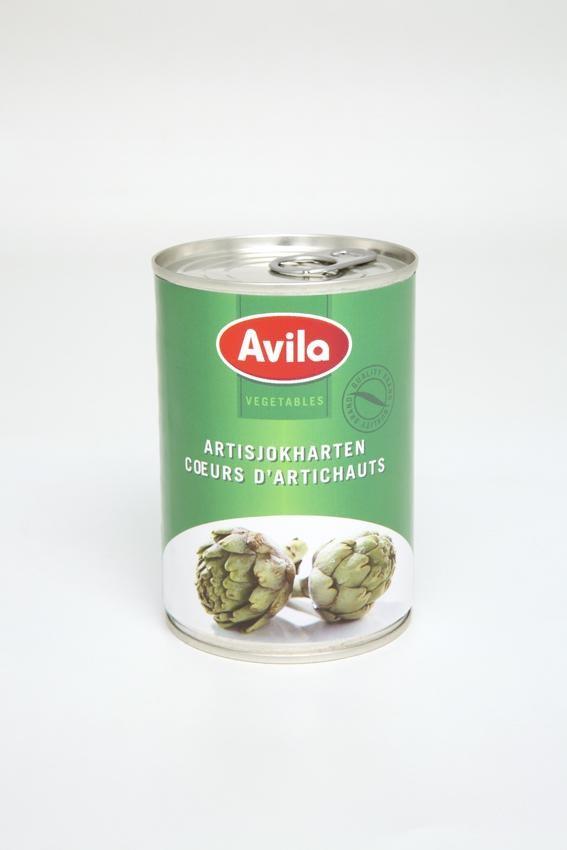 Coeurs d'artichauts 6/8 en conserve 390gr