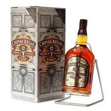 Chivas regal whisky 4,5l 40% 12 years + balancelle etui