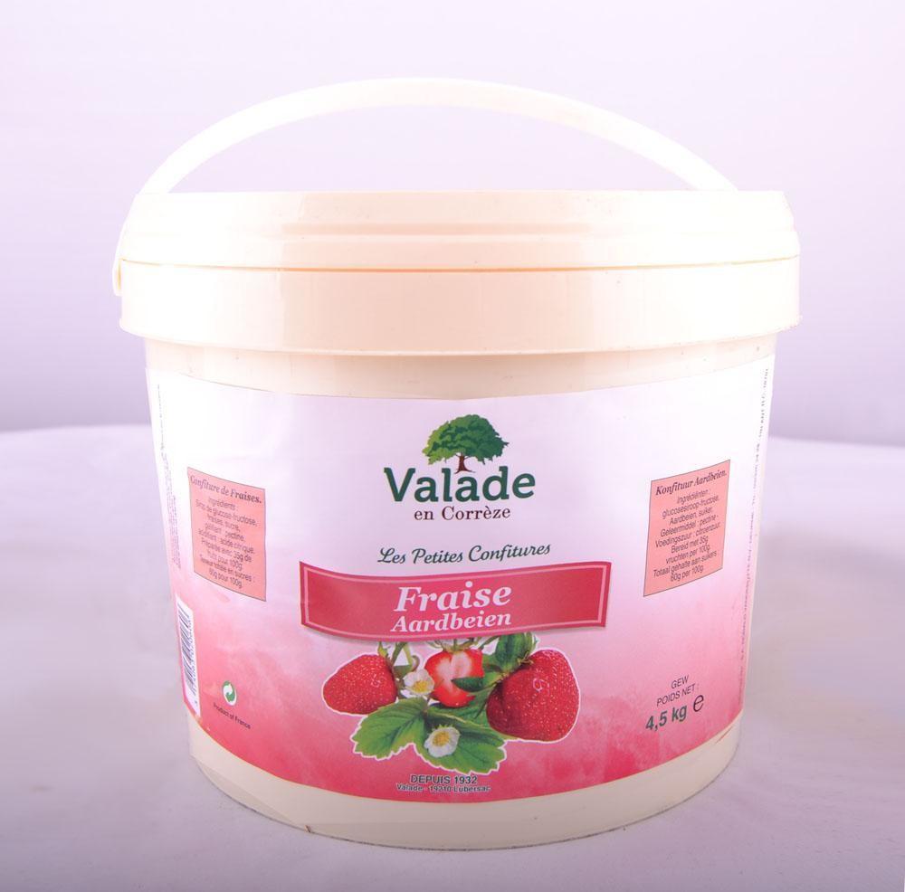 Confiture de fraises 4.5kg Valade