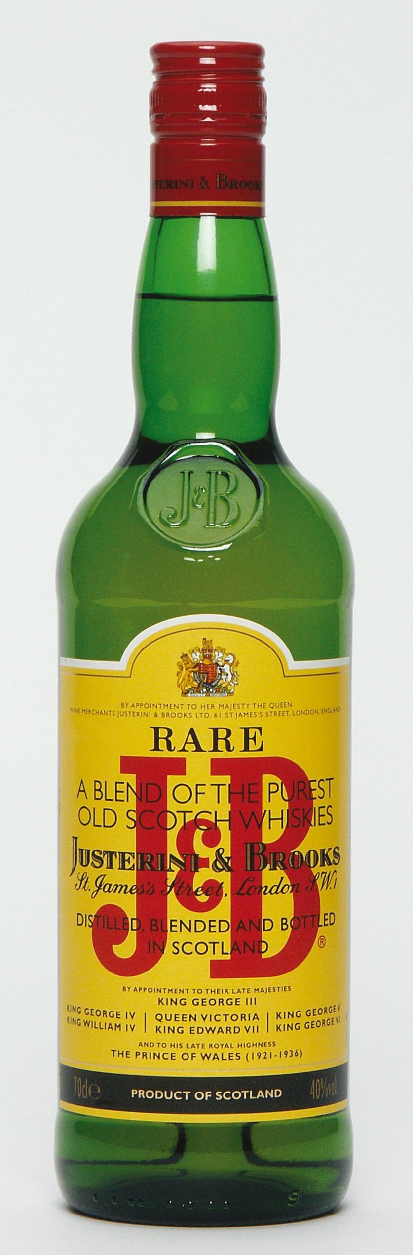 J&B 70cl 40% Blended Scotch Whisky