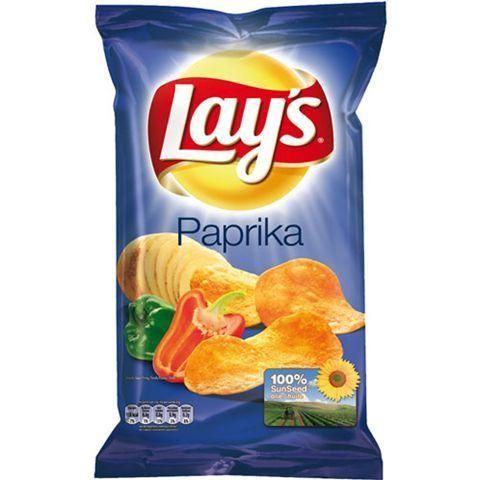 Lays crispy chips paprika 8x200gr