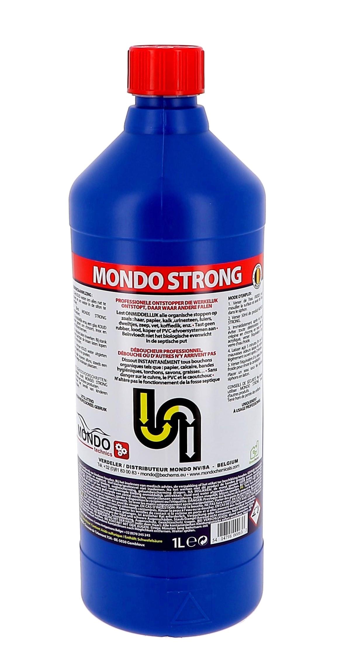 Mondo Strong 1L déboucheur industriel puissant