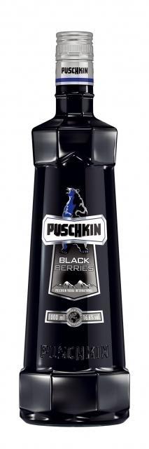 Vodka Puschkin Black Sun Berries 70cl 17.5%