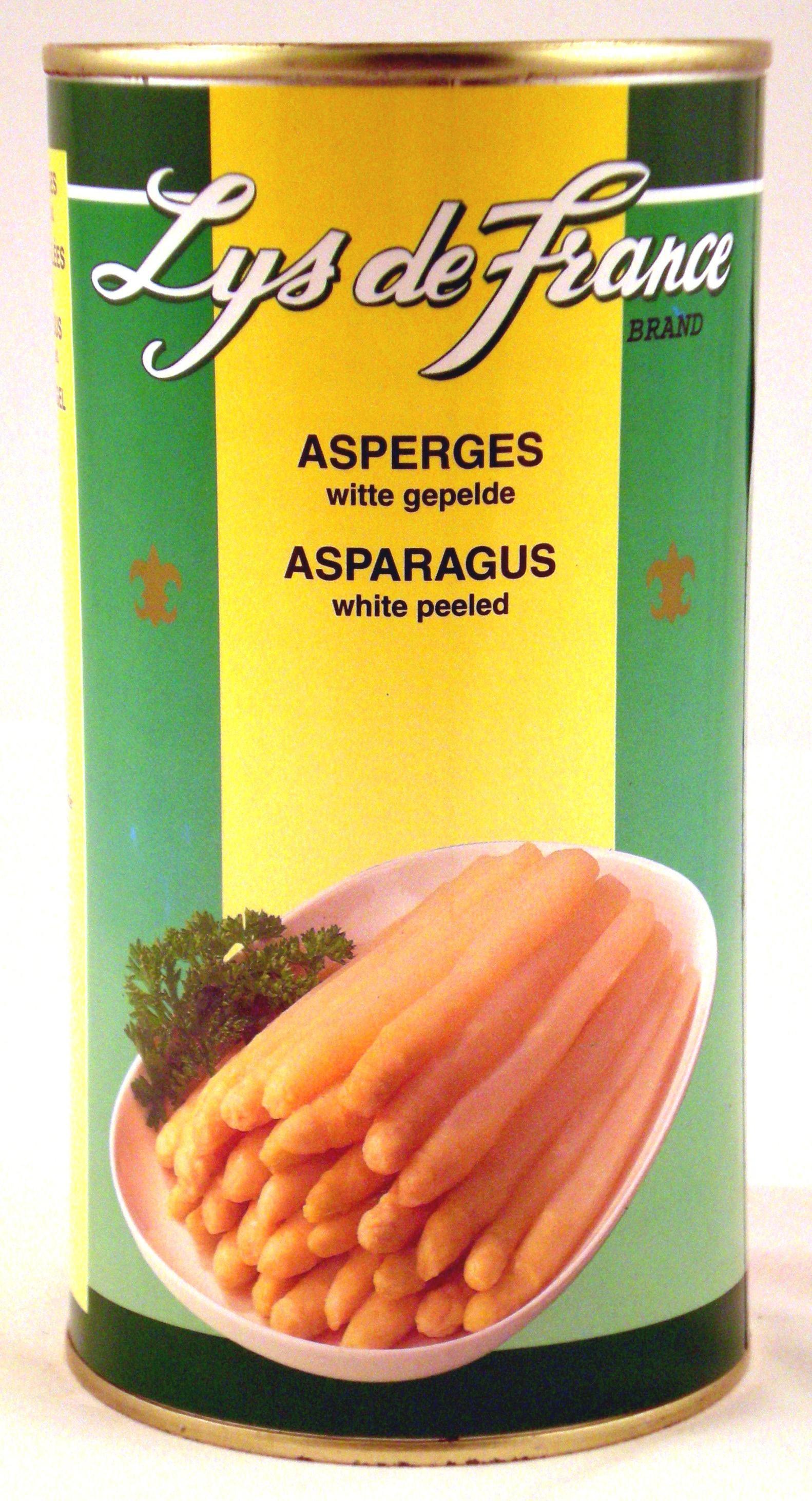 Asperges blanches pelées 0.5L Lys de France