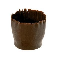 Coupes en chocolat pure 27x26mm Snobinettes 270pc Fondant Callebaut
