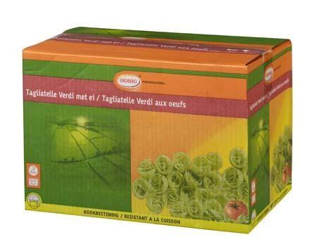Honig pates tagliatelle vert aux oeufs 3kg Professional