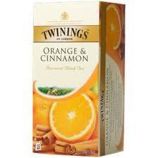 Thé Twinings Orange & Cinnamon canelle 25pc