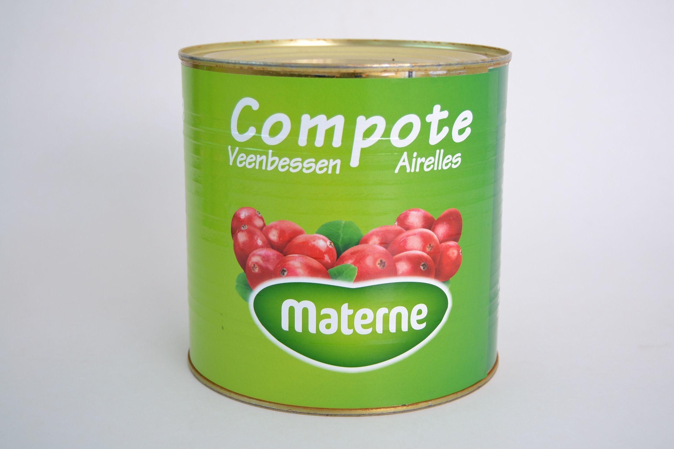 Materne airelles en compote 2.9kg boite